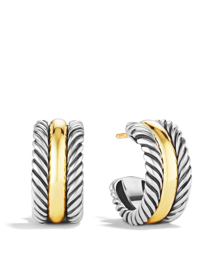 David Yurman Cable Collectibles Hoop Earrings with 14K Gold  | Bloomingdale's
