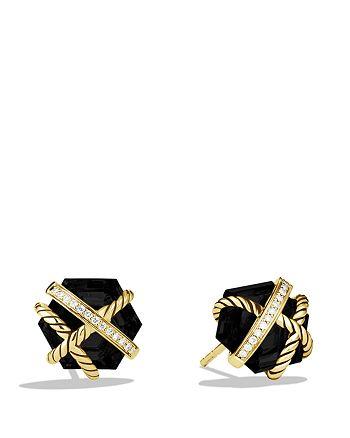 David Yurman - Cable Wrap Earrings with Black Onyx