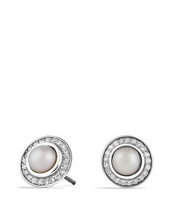 David Yurman - Cerise Mini Earrings with Pearls and Diamonds