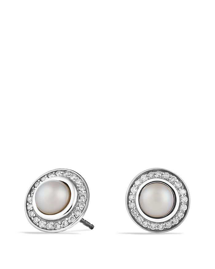 David Yurman - Cerise Mini Earrings with Pearls and Diamonds