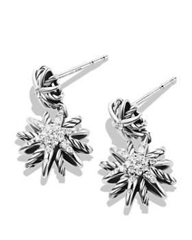 David Yurman - Starburst Double-Drop Earrings with Diamonds