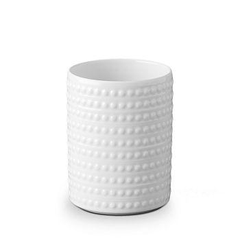 L'Objet - Perlee White Short Vase