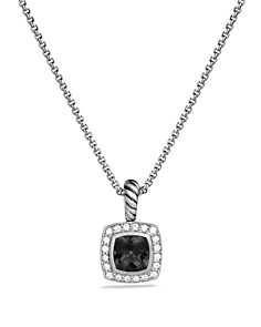 David Yurman - Petite Albion Pendant with Black Onyx and Diamonds on Chain