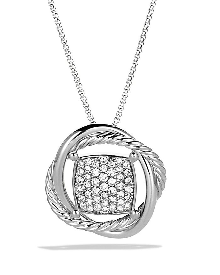 David Yurman - Infinity Pendant with Diamonds on Chain