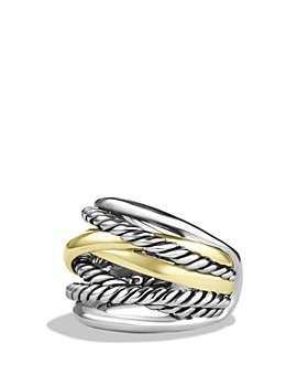 David Yurman - Crossover Wide Ring with 14K Gold