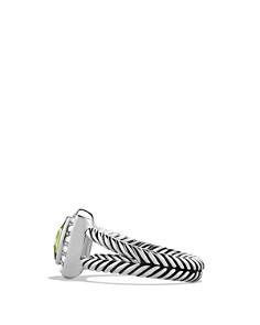 David Yurman - Petite Albion Ring with Peridot & Diamonds