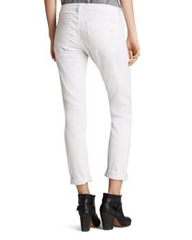 rag & bone/JEAN - The Dre Slim Boyfriend Jeans in Aged Bright White