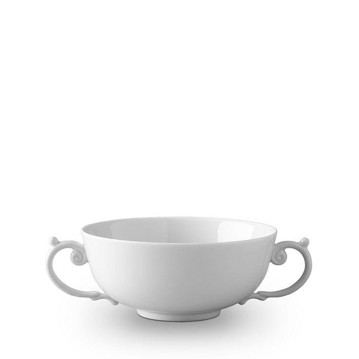 L'Objet - Aegean White Two-Handle Soup Bowl