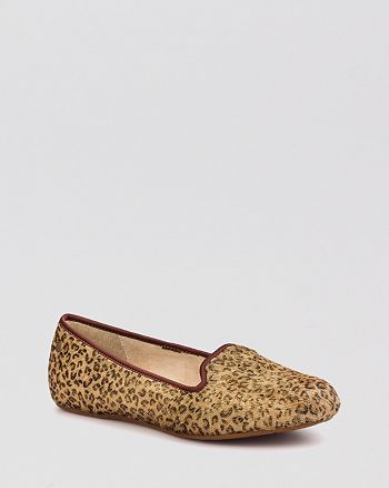 2311bf5392b UGG® Alloway Metallic Leopard Calf Hair Smoking Flats | Bloomingdale's