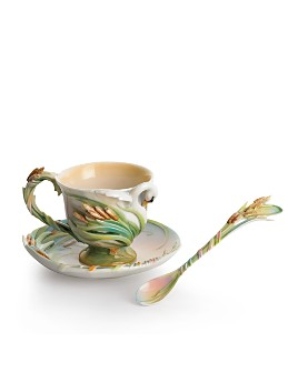 Franz Collection - Franz Collection Swan Lake Cup & Saucer with Spoon