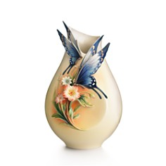 Franz Collection Fluttering Beauty Flower and Butterfly Small Vase - Bloomingdale's_0