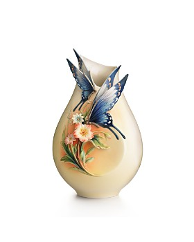 Franz Collection - Fluttering Beauty Flower and Butterfly Small Vase