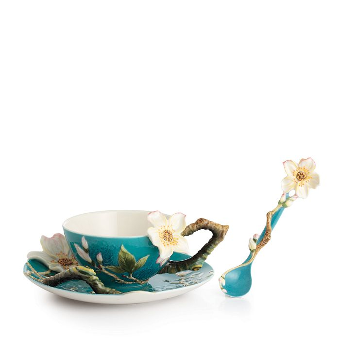 Franz Collection - Van Gogh Almond Flower Cup & Saucer with Spoon