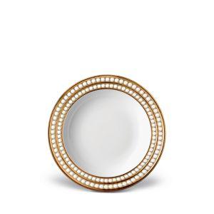 L'Objet Perlee Gold Soup Plate