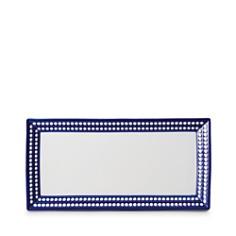"L'Objet - Perlee Bleu 16"" Rectangular Tray"