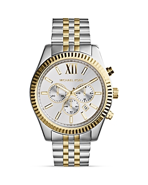 Michael Kors Two-Tone Lexington Watch, 45mm