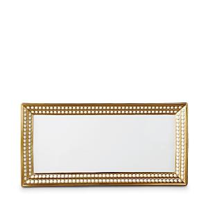 L'Objet Perlee Gold 16 Rectangular Platter
