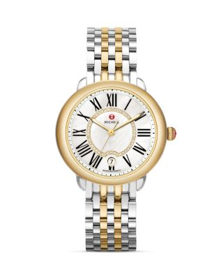Serein 16 Two Tone Diamond Dial Watch Head, 36 x 34mm