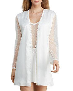 Flora Nikrooz Showstopper Charmeuse Cover-Up Robe & Chemise - Bloomingdale's_0