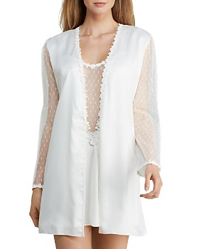 Flora Nikrooz - Showstopper Charmeuse Cover-Up Robe & Chemise