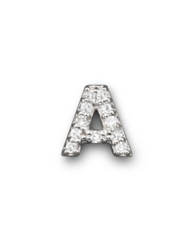 KC Designs - KC Designs Diamond Initial Stud Earring in 14K White Gold