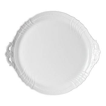 Richard Ginori - Vecchio White Cake Plate with Handles