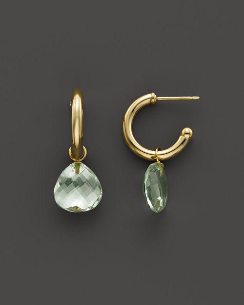 Bloomingdale's - Prasiolite Medium Hoop Earrings in 14K Yellow Gold- 100% Exclusive