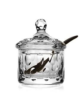 William Yeoward Crystal - Crystal Olive Covered Sugar Bowl