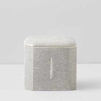 Kassatex - Shagreen Cotton Ball Jar