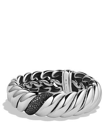 David Yurman - Hampton Cable Narrow Bracelet with Black Diamonds