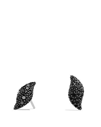 David Yurman - Hampton Cable Earrings with Black Diamonds