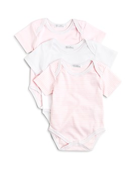 Kissy Kissy - Girls' Stripe & Solid Bodysuit, 3 Pack - Baby