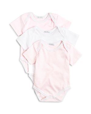 Kissy Kissy Girls' Stripe & Solid Bodysuit, 3 Pack - Baby