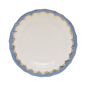 Herend Fish Scale Blue Dessert Plate