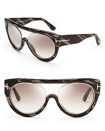 3bd8c5a0dd Tom Ford - Women s Alana Oversized Navigator Sunglasses