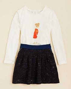 Chloé - Girls' Printed Tee & Piped Tweed Skirt - Little Kid