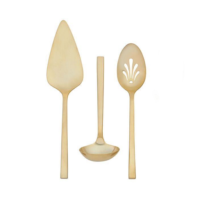Wedgwood - Polished Gold 3-Piece Serving Set