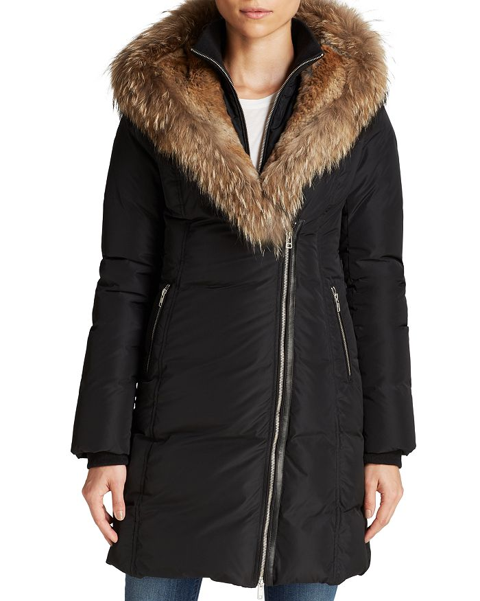 30e823f7f Fur-Trimmed Trish Down Coat