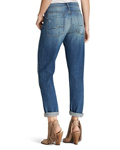 7 For All Mankind - Josefina Boyfriend Jeans in Bright Broken Twill
