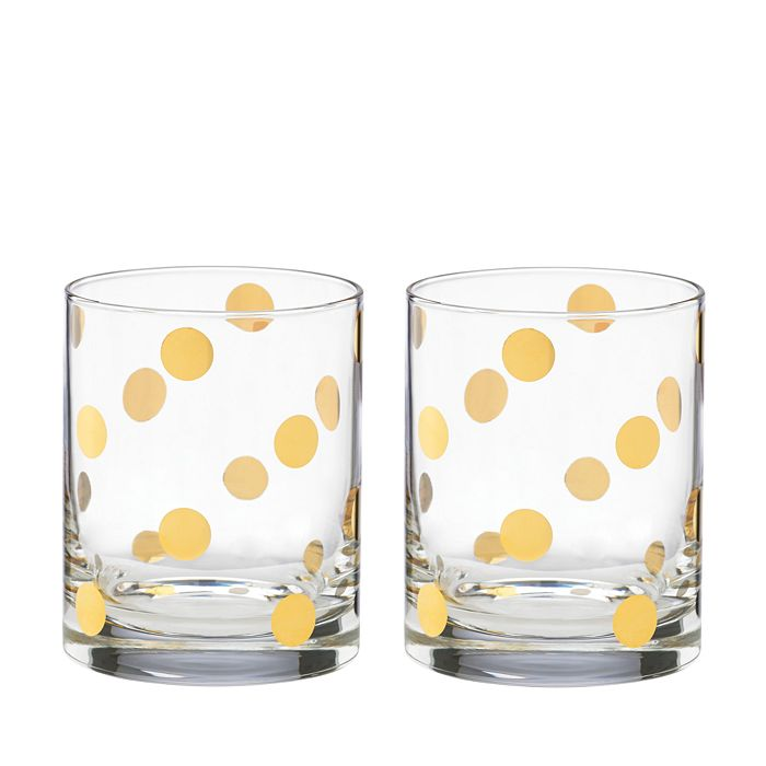 kate spade new york - Pearl Place Double Old-Fashioned Glass, Set of 2