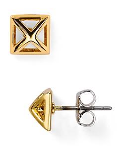 Rebecca Minkoff - Pyramid Cut-Out Stud Earrings