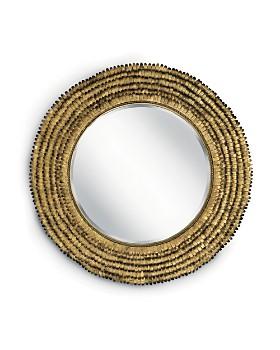Regina Andrew Design - Gold Leaf Round Petal Mirror