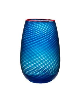 Kosta Boda - Red Rim Vase