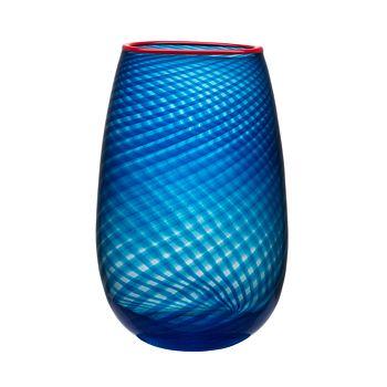Kosta Boda - Red Rim Large Vase
