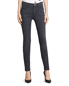 7 For All Mankind - High Waist Ankle Skinny Jeans in Bastille Grey
