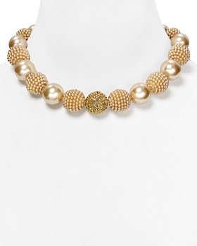 """Carolee - Faux-Pearl Mix Bauble Necklace, 17"""""""