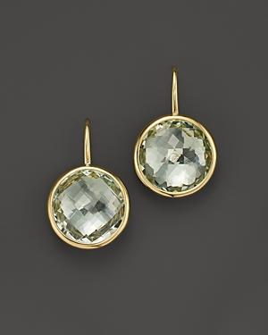Green Amethyst Large Drop Earrings in 14K Yellow Gold - 100% Exclusive