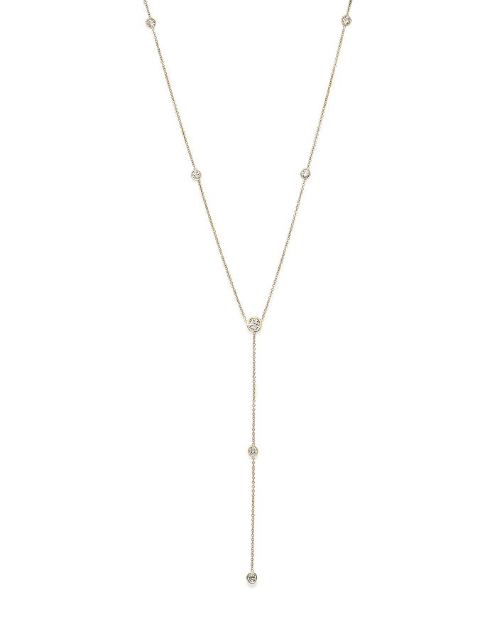 Bloomingdale's - Diamond Station Y Necklace in 14K Yellow Gold, .75 ct. t.w. - 100% Exclusive