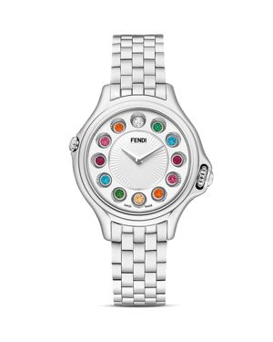Fendi Crazy Carats Stainless Steel Rotating Gemstones Watch, 33mm
