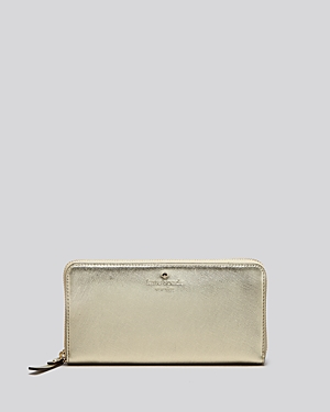 kate spade new york Cedar Street Lacey Metallic Continental Wallet